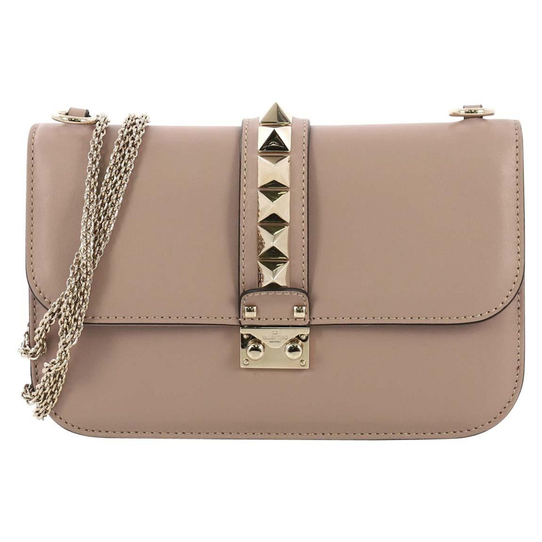 cb0ed0781e8 Valentino Glam Lock Shoulder Bag Leather Medium at 1stdibs
