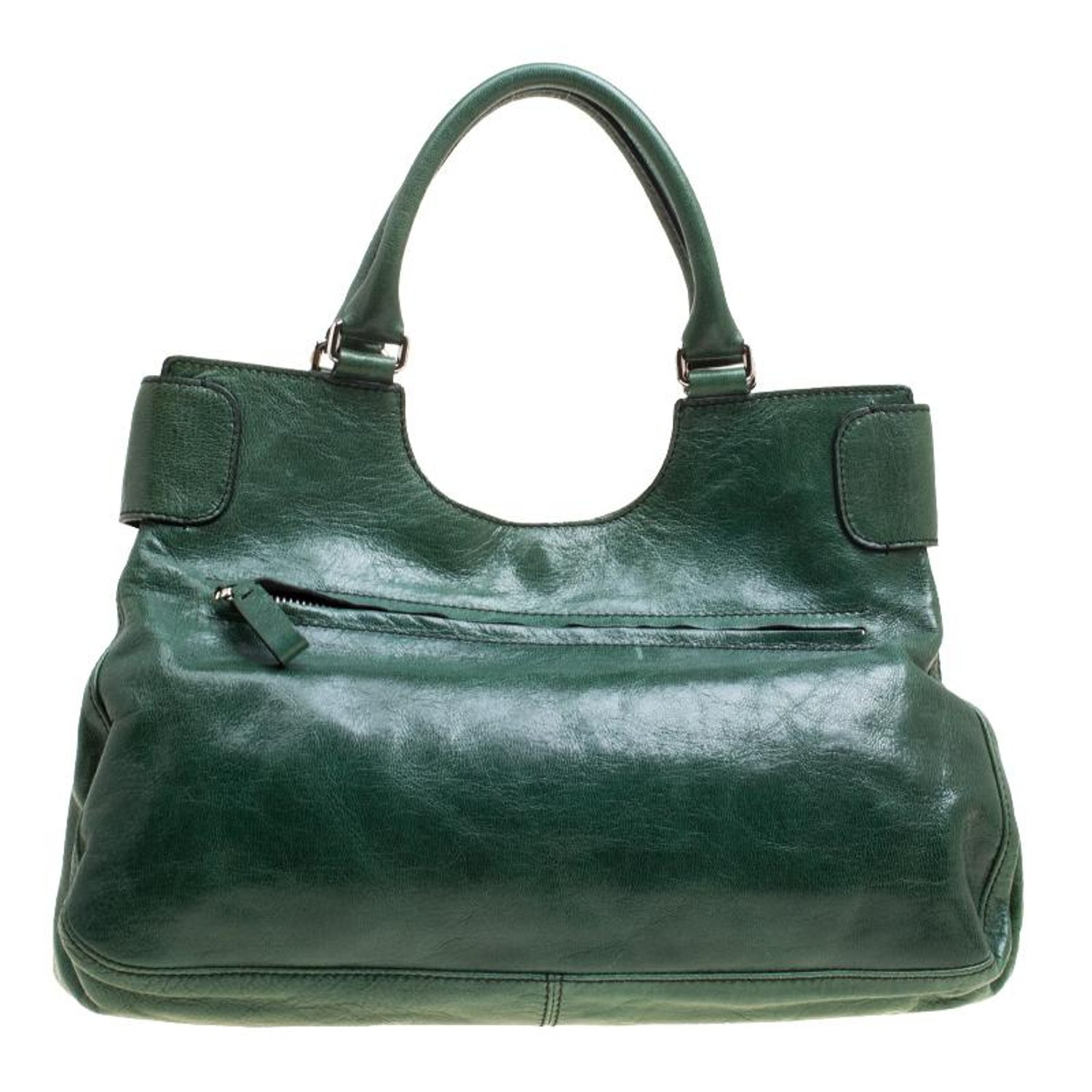 13d07455b4c Valentino Green Leather Crystal Catch Shoulder Bag For Sale at 1stdibs