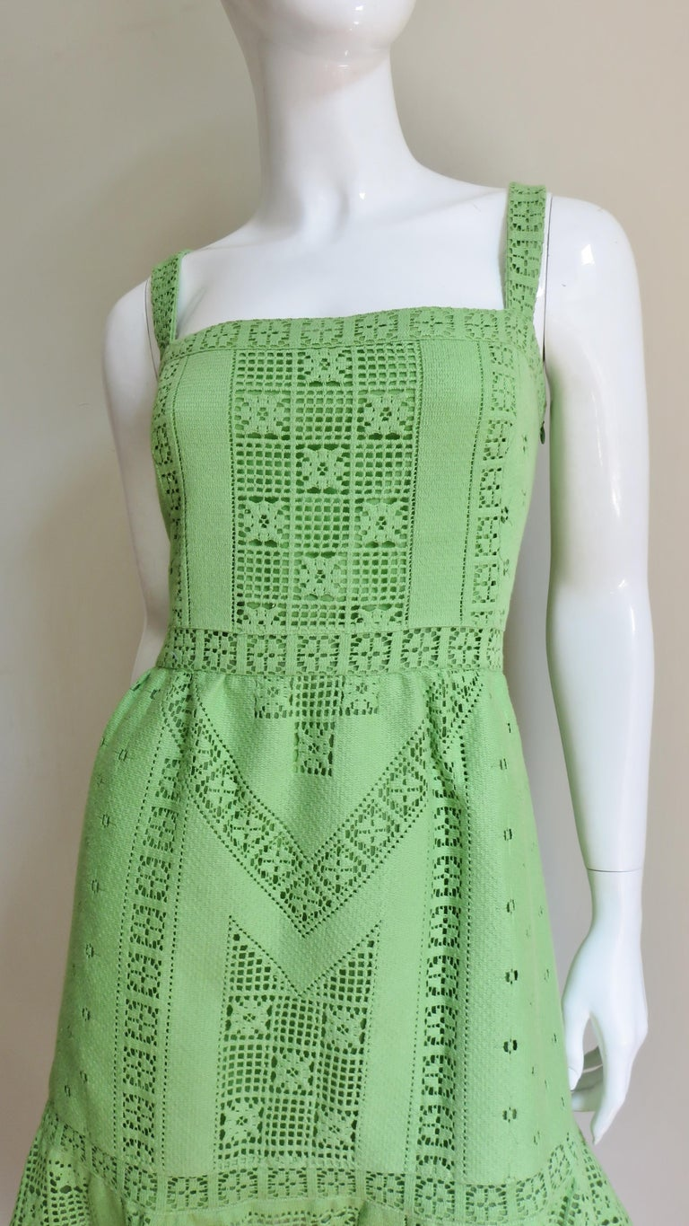 Green Valentino New Guipure Lace Dress For Sale