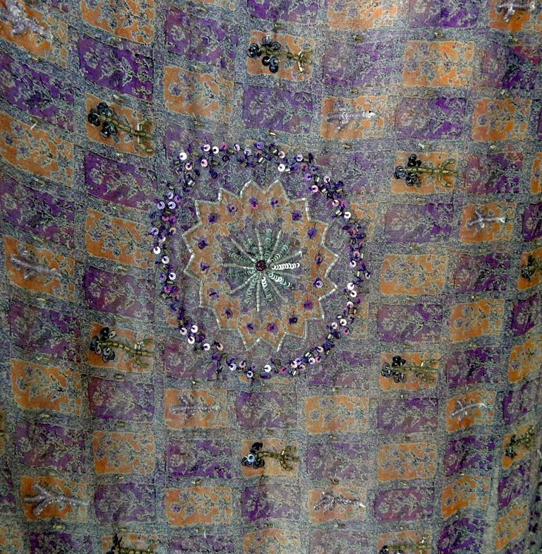 Women's  Valentino Hand Beaded Sari Silk Asymmetrical Evening Dress For Sale