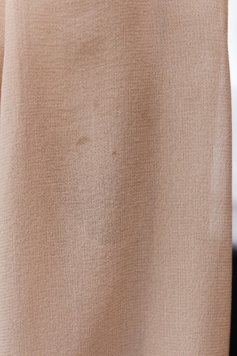 Valentino Haute Couture gorgeous beige silk chiffon cocktail dress with embroide For Sale 10