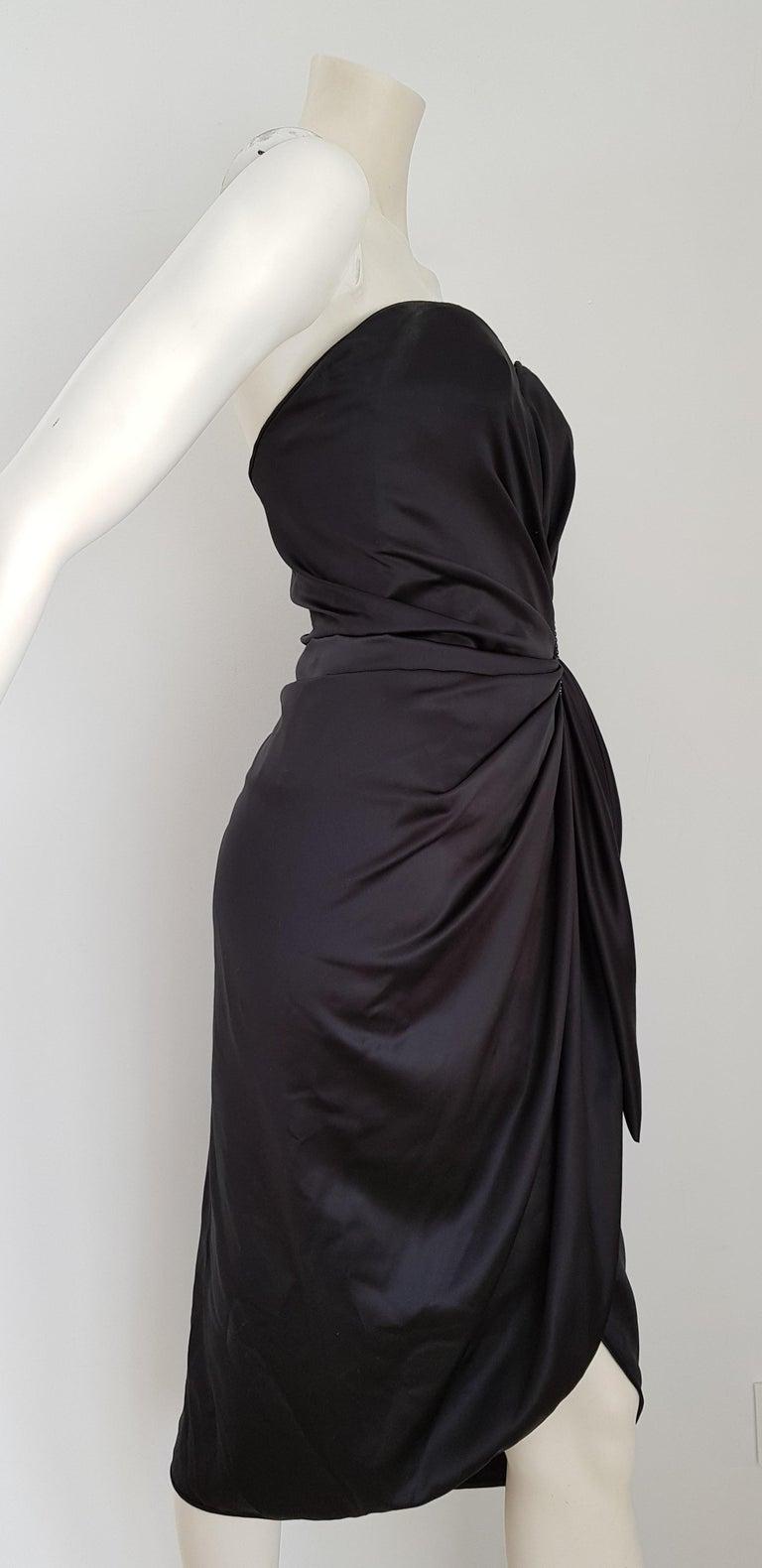 Women's VALENTINO Haute Couture Swarovski Diamonds Drop in Front, Silk Gown- Unworn, New For Sale