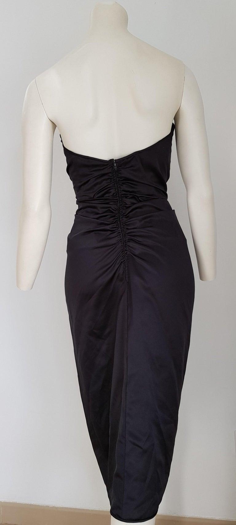 VALENTINO Haute Couture Swarovski Diamonds Drop in Front, Silk Gown- Unworn, New For Sale 2