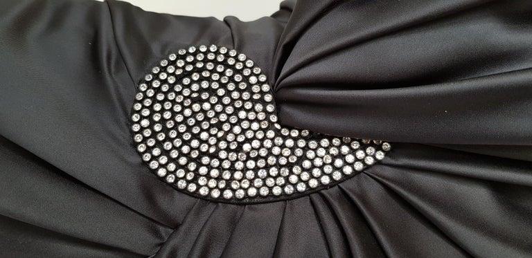 VALENTINO Haute Couture Swarovski Diamonds Drop in Front, Silk Gown- Unworn, New For Sale 3