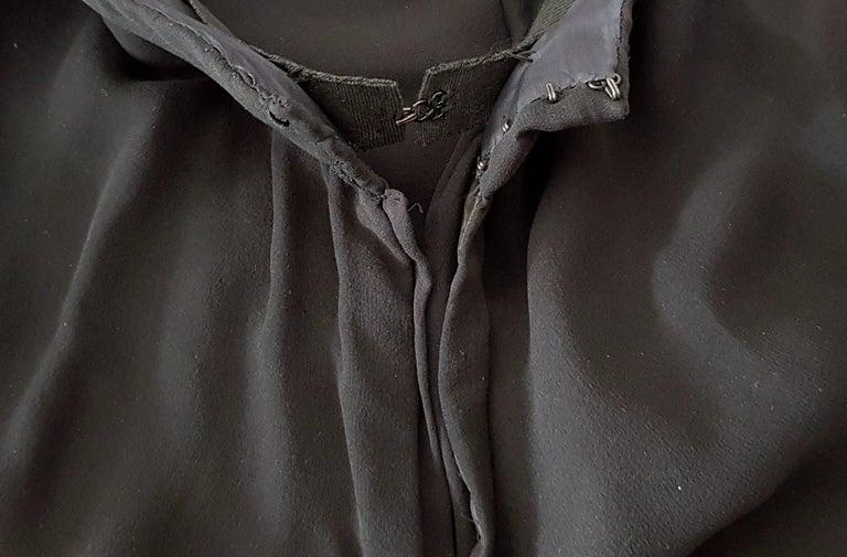 VALENTINO Haute Couture swarovski diamonds on black hems silk gown - Unworn, new For Sale 3
