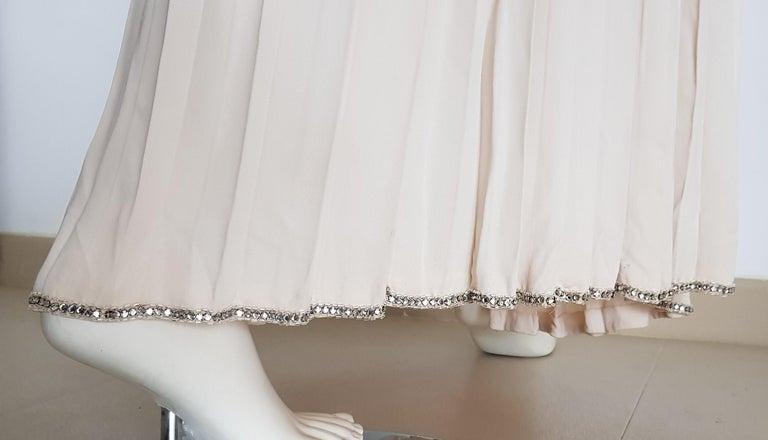 VALENTINO Haute Couture Top Skirt Swarovski Diamonds Waistband Silk Dress-Unworn For Sale 8