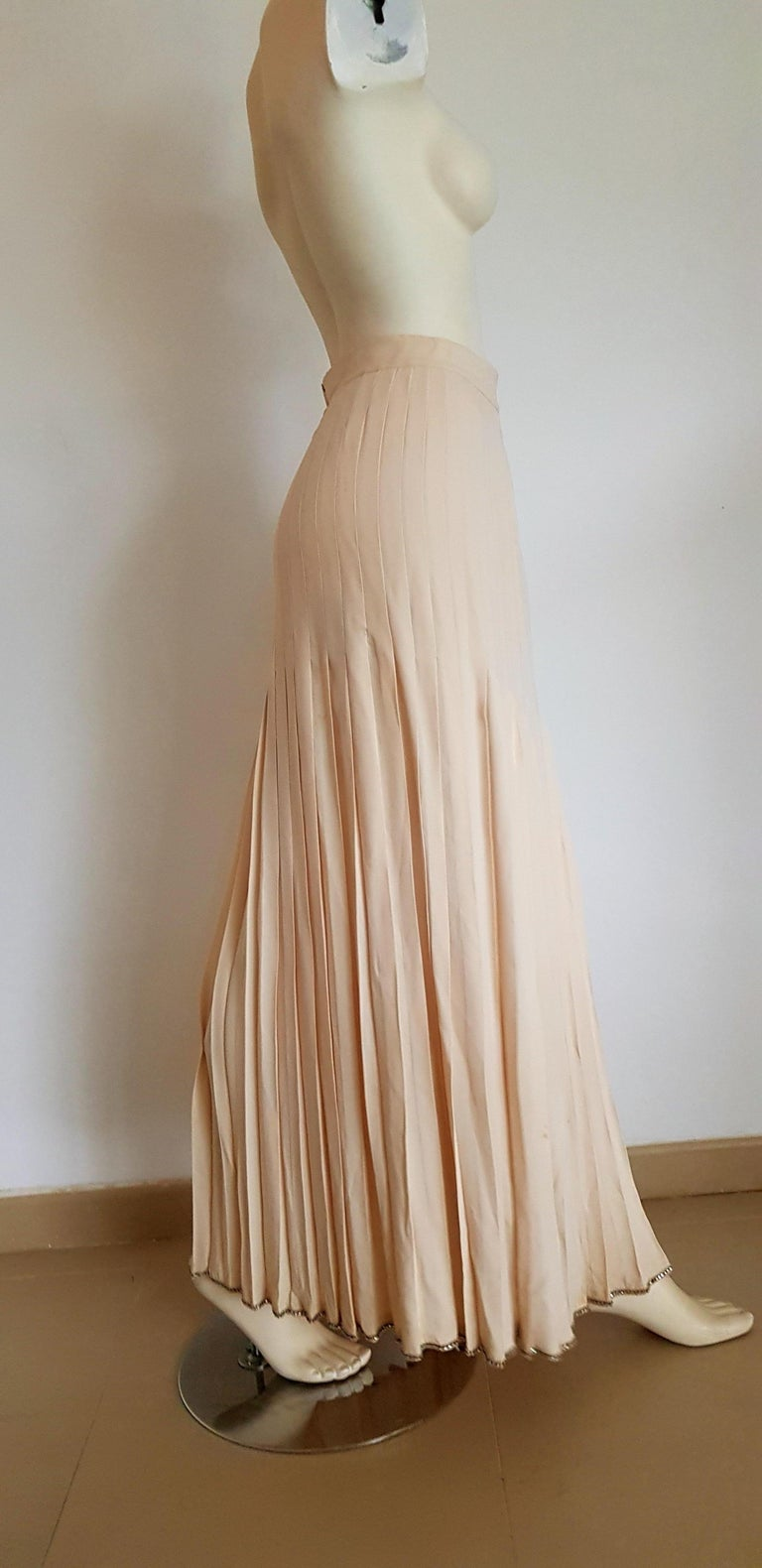 VALENTINO Haute Couture Top Skirt Swarovski Diamonds Waistband Silk Dress-Unworn For Sale 3