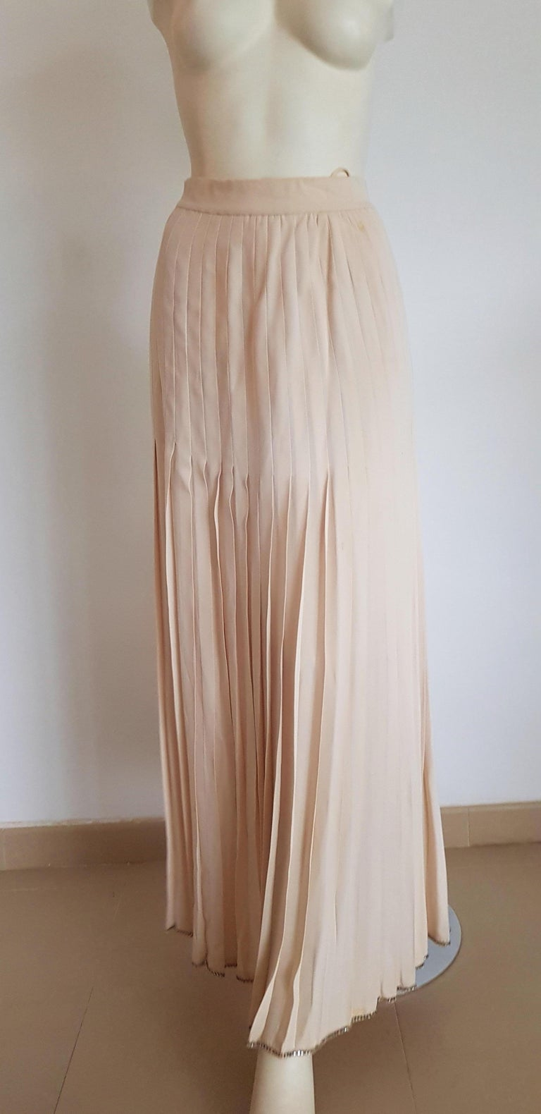 VALENTINO Haute Couture Top Skirt Swarovski Diamonds Waistband Silk Dress-Unworn For Sale 4