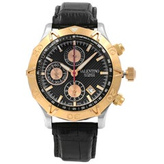 Valentino Homme Black Dial Chronograph Steel Automatic Men's Watch V40LCA3909