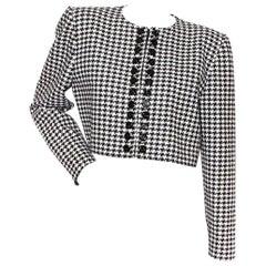 Valentino Houndstooth Crop Jacket