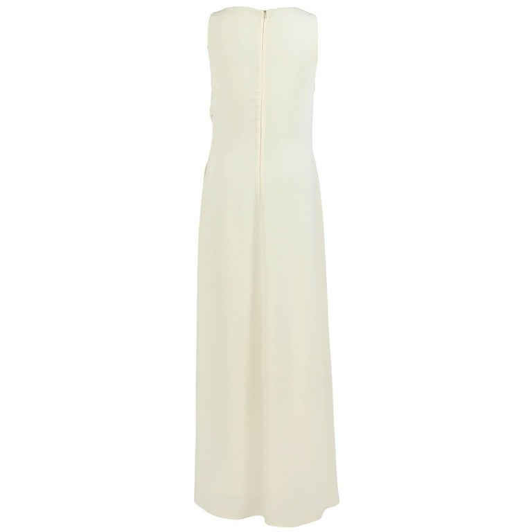 Valentino Ivory Silk Wedding Vintage Dress, 2000s For Sale