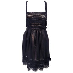 Valentino Laser Cut Lace and Black Leather 10 US