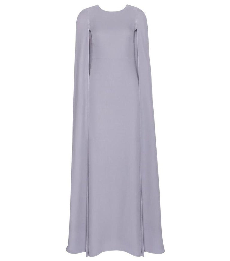 Valentino Lilac Cape Gown  For Sale 5