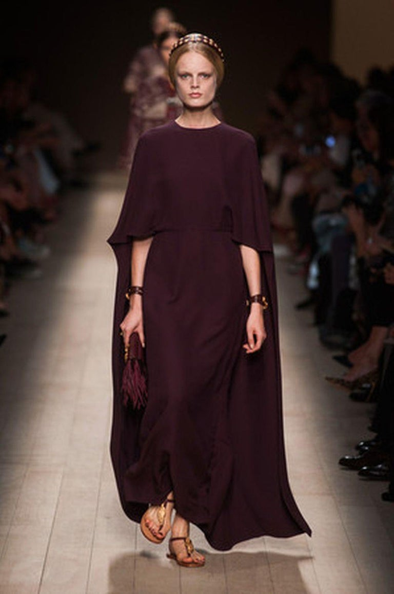 Valentino Lilac Cape Gown  For Sale 4