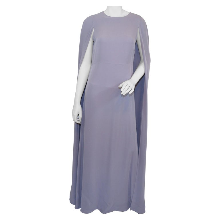 Valentino Lilac Cape Gown  For Sale