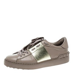 Valentino Lilac Leather Open Sneakers Size 37