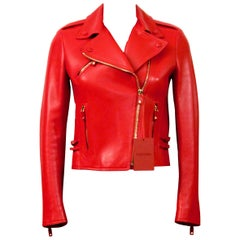 Valentino Limited Edition Rouge Absolute Signature Leather Biker Jacket