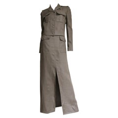 Valentino Linen Jacket and Maxi Skirt