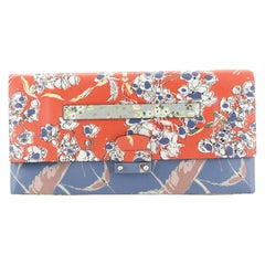 Valentino Mime Clutch Printed Leather