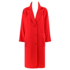 VALENTINO Miss V c.1980's Peak Lapel Collar Oversized Cocoon Coat