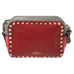 Valentino Multicolor Leather Rockstud Camera Crossbody Bag