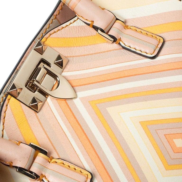 Valentino Multicolor Leather Small Native Couture 1975 Rockstud Tote 5