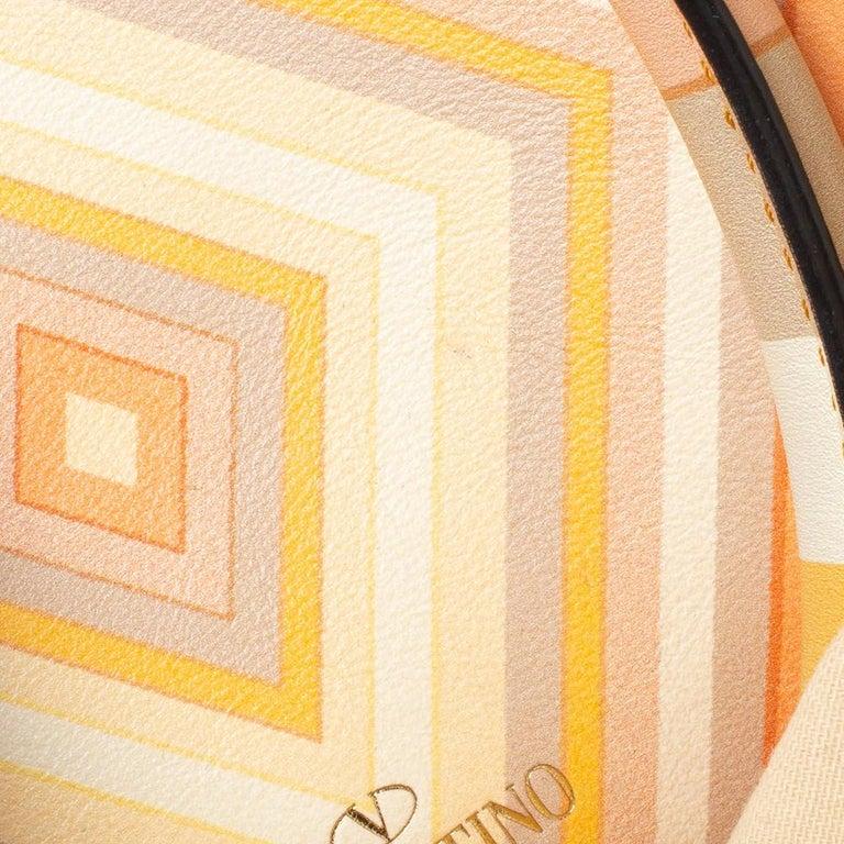 Valentino Multicolor Leather Small Native Couture 1975 Rockstud Tote 8