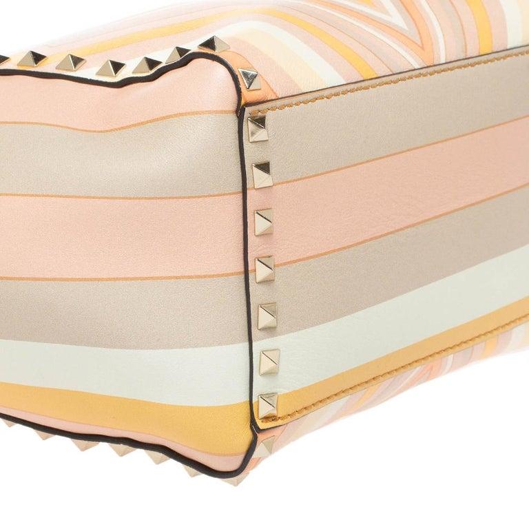 Valentino Multicolor Leather Small Native Couture 1975 Rockstud Tote 9