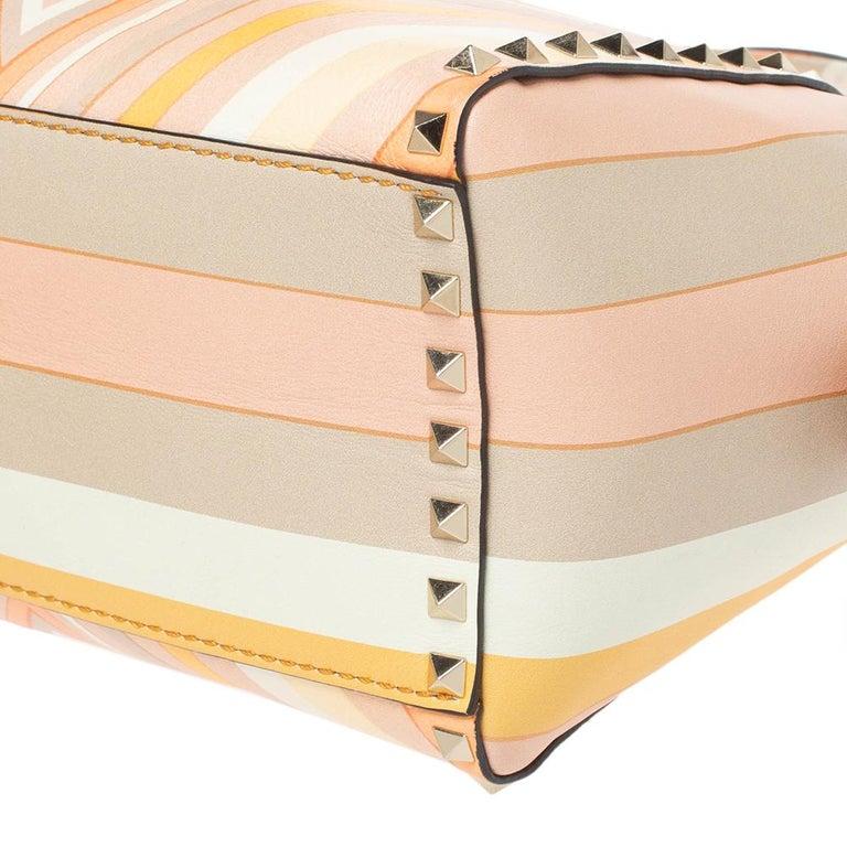 Valentino Multicolor Leather Small Native Couture 1975 Rockstud Tote 1