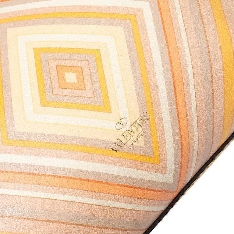 Valentino Multicolor Leather Small Native Couture 1975 Rockstud Tote 2