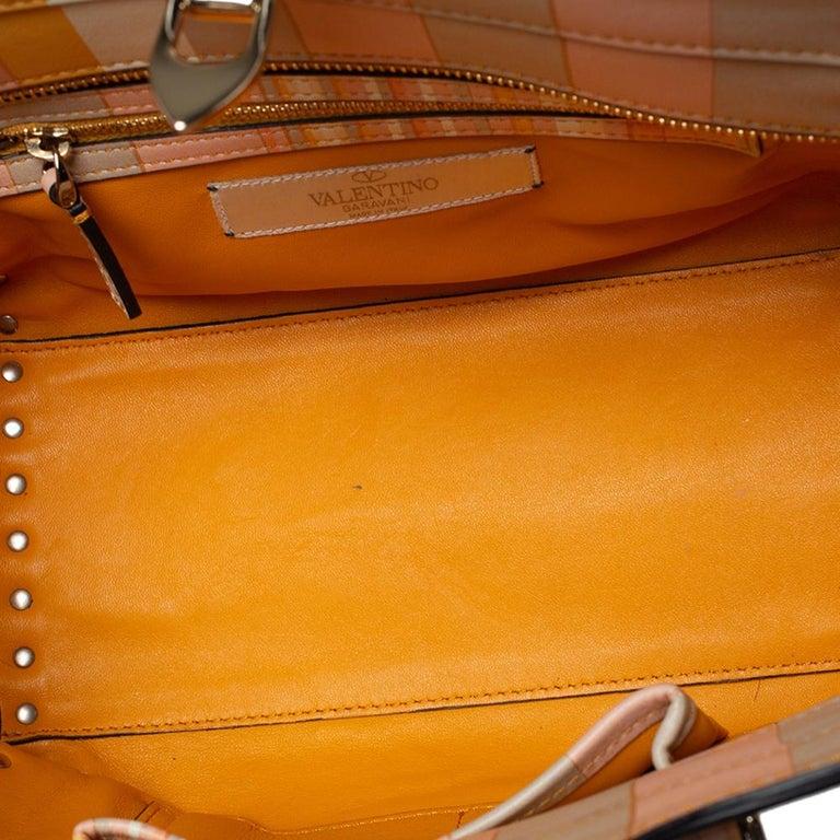 Valentino Multicolor Leather Small Native Couture 1975 Rockstud Tote 4