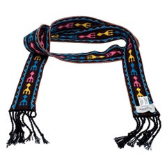 Valentino Multicolor Pattern Knit Bandeau Scarf