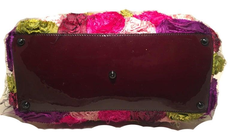 Valentino Multicolor Silk Rosier Rosettes Tote Bag In Good Condition For Sale In Philadelphia, PA