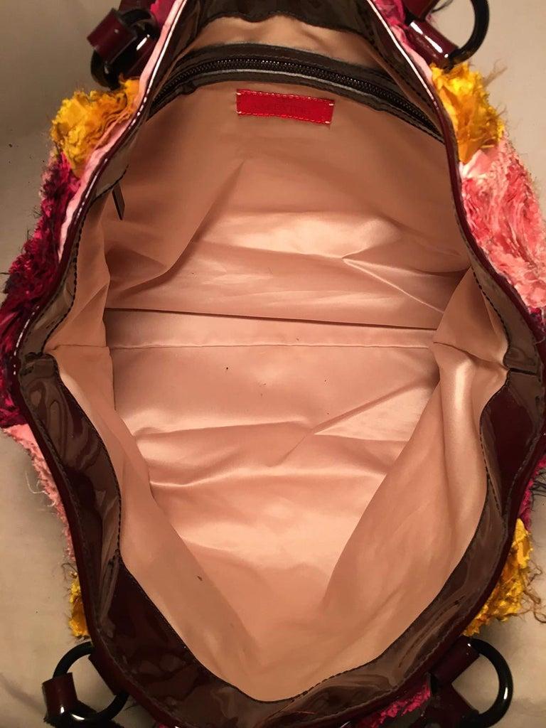 Valentino Multicolor Silk Rosier Rosettes Tote Bag For Sale 2