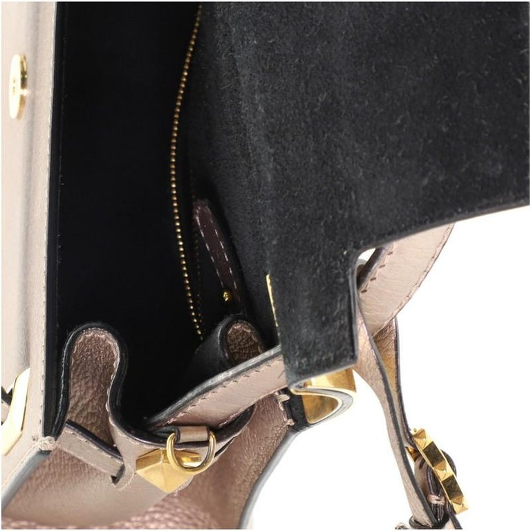 Valentino My Rockstud Satchel Leather Small  3