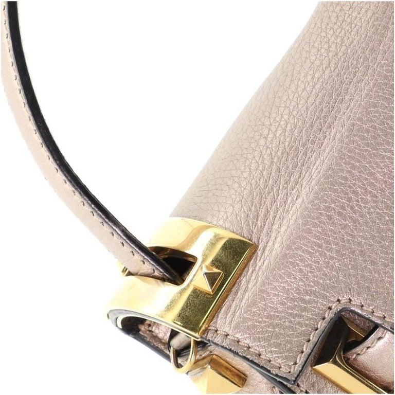 Valentino My Rockstud Satchel Leather Small  4