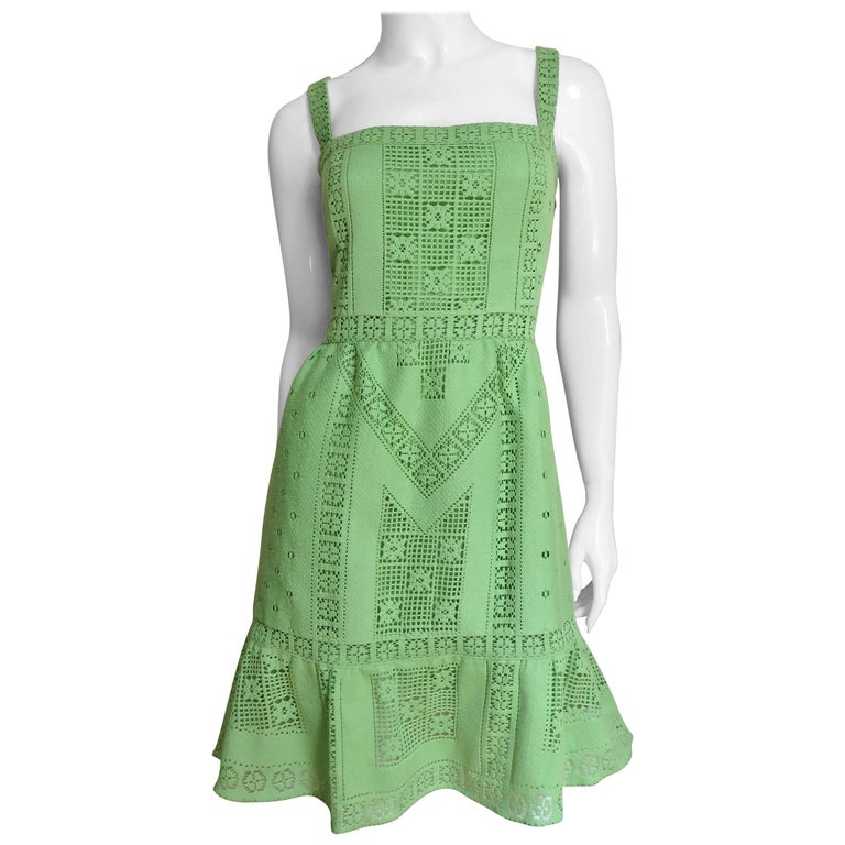 Valentino New Guipure Lace Dress For Sale
