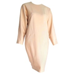 "VALENTINO ""New"" Haute Couture Beige Vicuña fabric Dress - Unworn"
