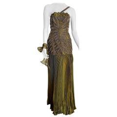 "VALENTINO ""New"" Haute Couture Swarovski Beaded Embroidered ""Siren"" model- Unworn"
