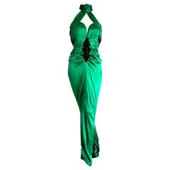 "VALENTINO ""New"" Haute Couture Swarovski beaded Silk Gown Evening Dress - Unworn"