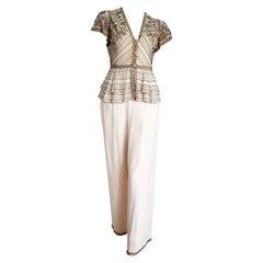 "VALENTINO ""New"" Haute Couture Swarovski Embroidered Beaded Silk Dress - Unworn"