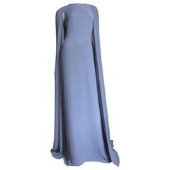 Valentino New Lilac Silk Cape Gown