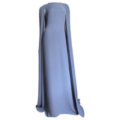 Valentino New Lilac Silk Cape Gown