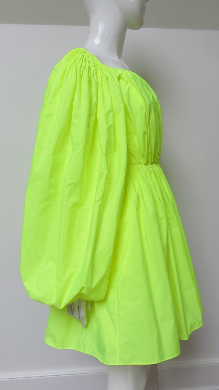 Valentino New Neon Dress For Sale 5