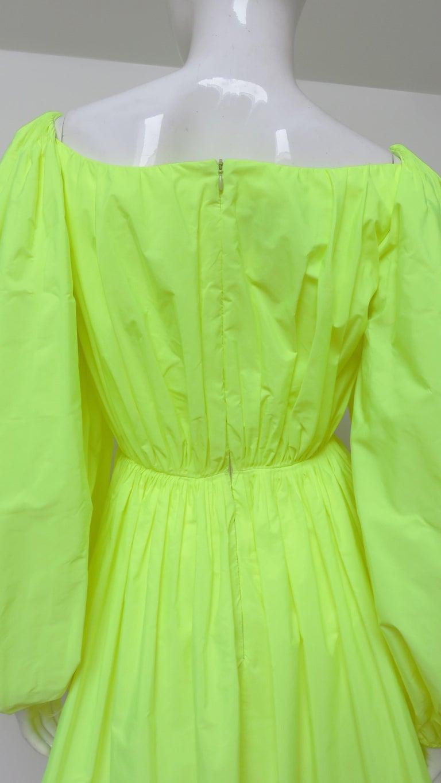 Valentino New Neon Dress For Sale 7