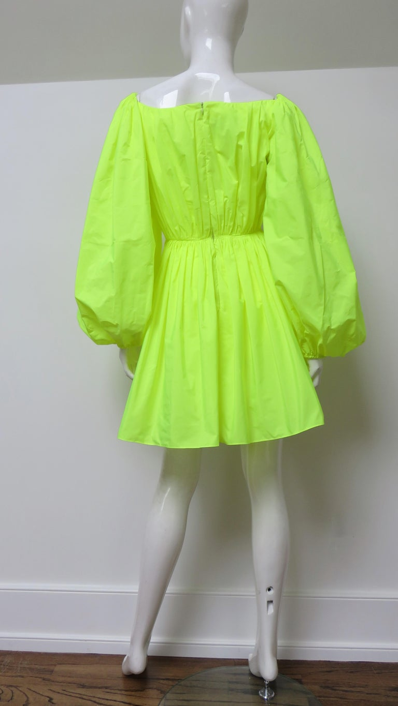 Valentino New Neon Dress For Sale 8