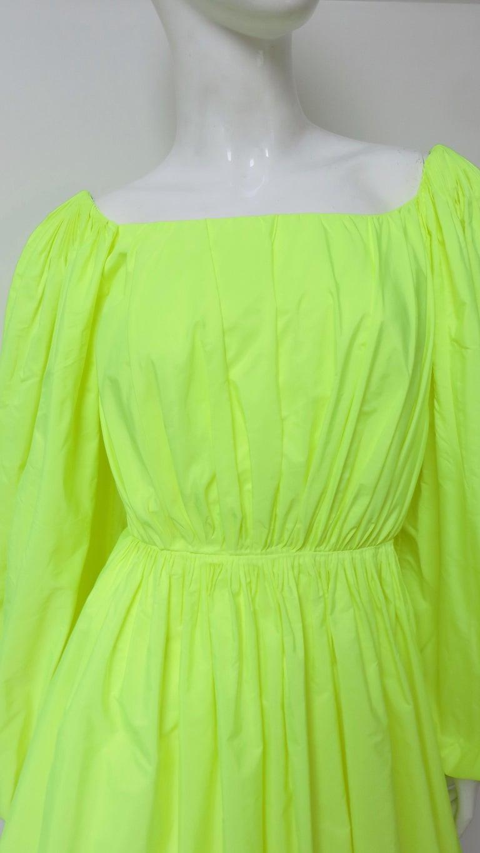 Green Valentino New Neon Dress For Sale