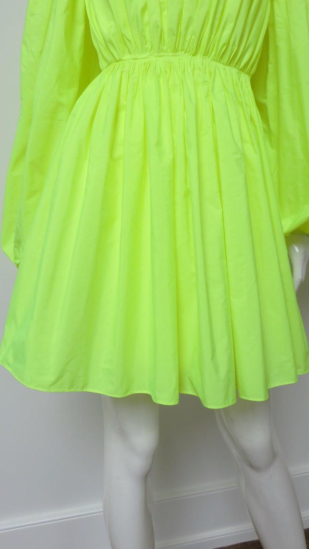 Valentino New Neon Dress For Sale 1