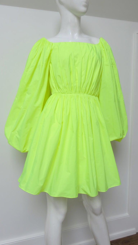 Valentino New Neon Dress For Sale 2