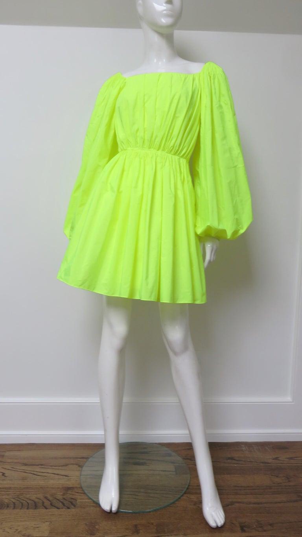 Valentino New Neon Dress For Sale 3
